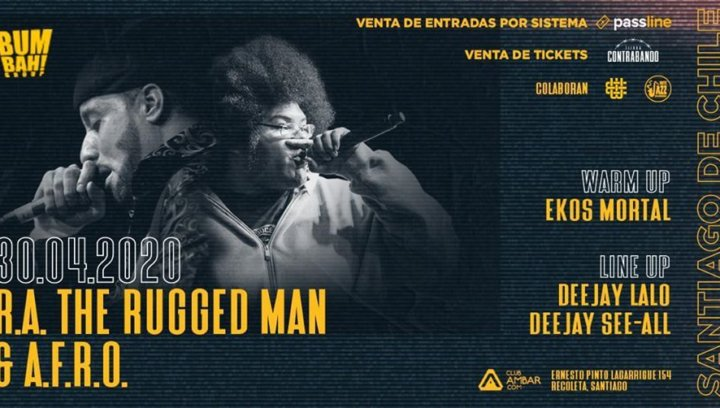 RA The Rugged Man & AFRO en Chile