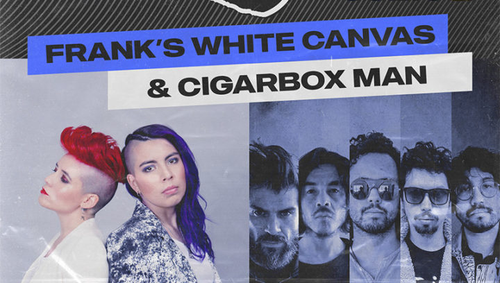 Cigarbox Man & Frank's White Canvas